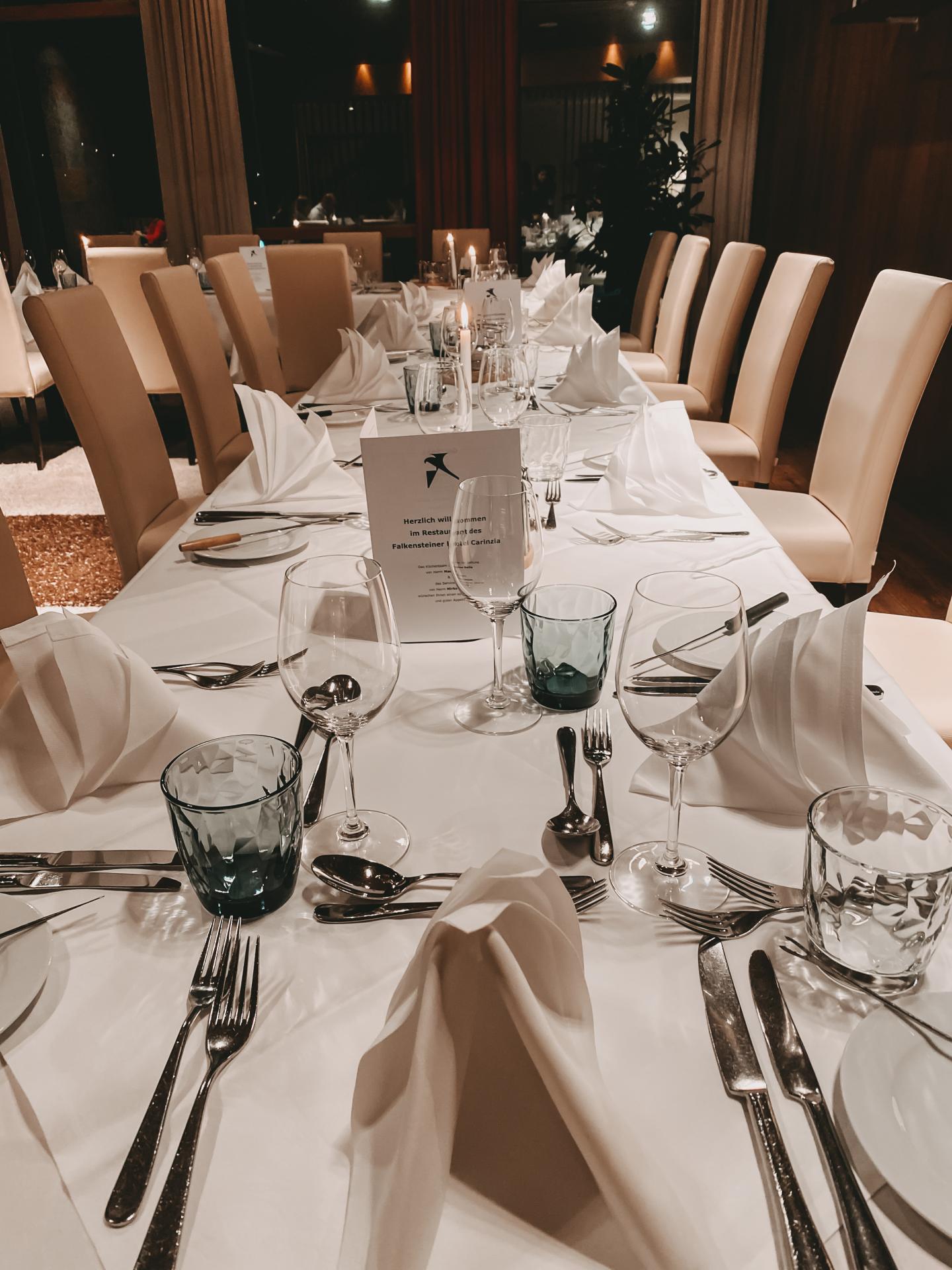 Abendessen im Falkensteiner Hotel