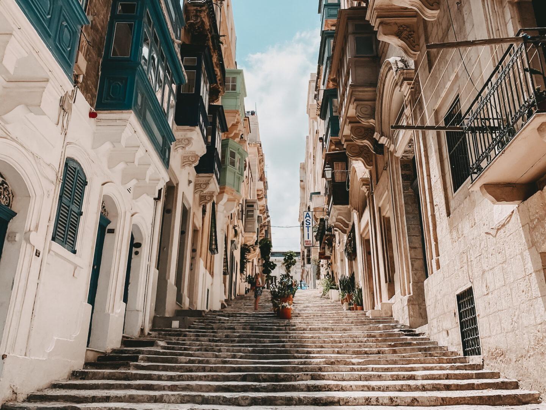 Kleine Gassen in Valetta auf Malta